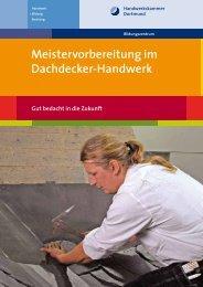 Meistervorbereitung im Dachdecker-Handwerk - Meisterschulen