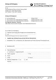Antrag auf Eintragung - Handwerkskammer Braunschweig ...