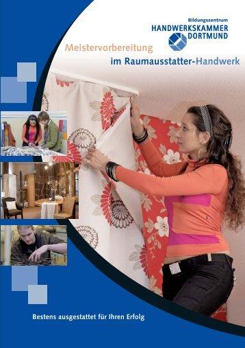Meistervorbereitung im Raumausstatter-Handwerk Bestens