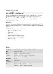 AutoCAD – Aufbaukurs