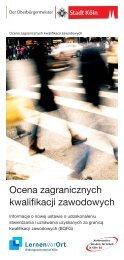Ocena zagranicznych kwalifikacji zawodowych - Handwerkskammer ...