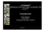 Vortrag Dirk Köttgen, Hörakustik Köttgen