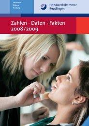 Zahlen Daten Fakten 2008-2009 - Handwerkskammer Reutlingen