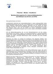29. Juni 2012 - Handwerkskammer zu Köln