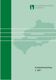 Auswertung Konjunkturbericht I/2007 (Angaben in %)