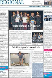 Auszeichnung der Besten - Handwerkskammer Reutlingen