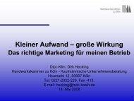 große Wirkung: Das richtige Marketing für - Handwerkskammer zu ...