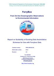 Existing Data Assimilation Schemes for Use with Ferrybox - Hydromod