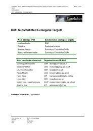D31: Substantiated Ecological Targets - Hydromod