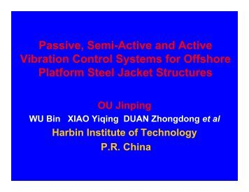 Passive, Semi-Active and Active Vibration Control Systems for ...