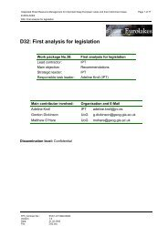 D32: First analysis for legislation - Hydromod