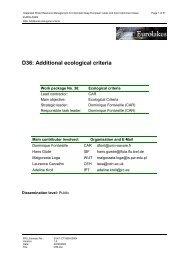 D36: Additional ecological criteria - Hydromod