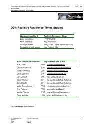 D24: Realistic Residence Times Studies - Hydromod