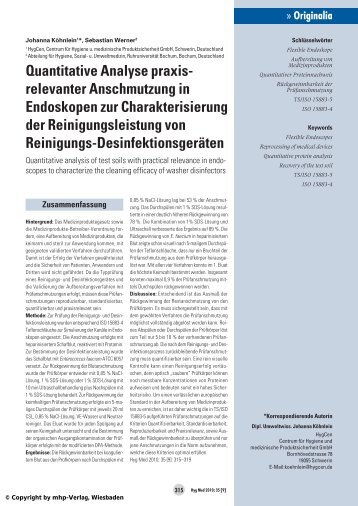 Quantitative Analyse als PDF - HygCen