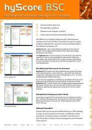 Balanced Scorecard mit hyScore - hyperspace