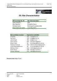D5: Site Characterisation - Hydromod