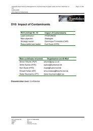 D10: Impact of Contaminants - Hydromod