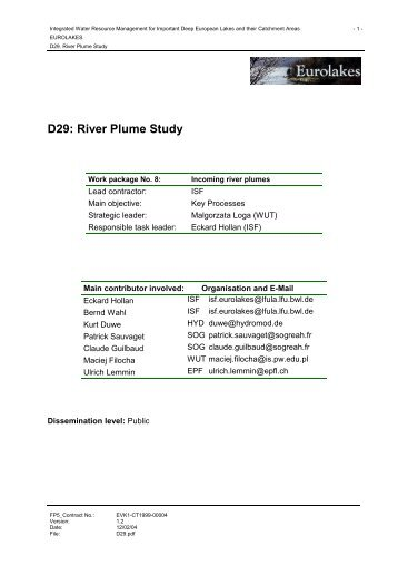 D29: River Plume Study - Hydromod
