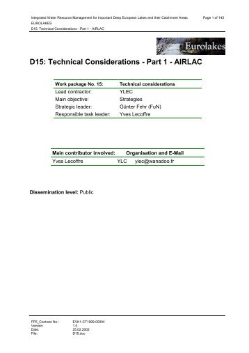 D15: Technical Considerations - Part 1 - AIRLAC - Hydromod