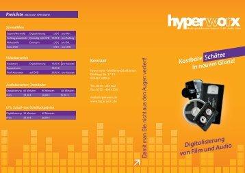 aktuellen Flyer und die Preisliste - hyperworx
