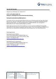 Ad hoc Meldung vom 25.10.2011 - Hypo Alpe-Adria-Bank AG