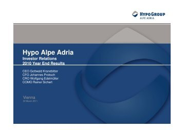 2010 Year End Results - Hypo Alpe-Adria-Bank AG