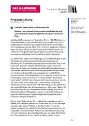 Pressemitteilung im Januar 2010 - Handwerkskammer zu Köln