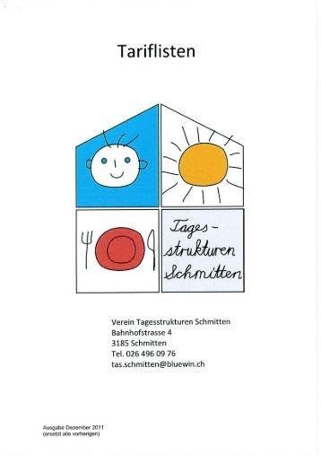 Bedarfsabklärung Anhang C Muster Tarifliste ... - Gemeinde Alterswil