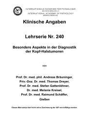 Klinische Angaben Lehrserie Nr. 240 Besondere Aspekte in der ...
