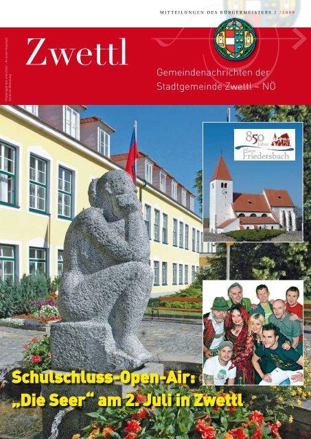 Aktuelle Informationen: www.zwettl.gv.at Aktuelle Informationen
