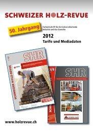 Mediadaten - Schweizer Holz-Revue