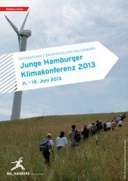 Junge Hamburger Klimakonferenz 2013 11. - 15 ... - IBA Hamburg