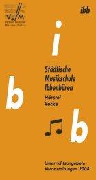 Städtische Musikschule Ibbenbüren Hörstel - Stadt Ibbenbüren