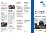 Auf kirchlichen Spuren in Berlin - Internationales Bildungs