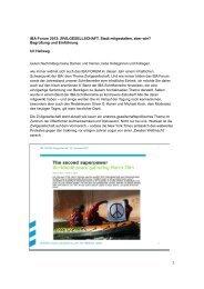 1 IBA Forum 2012: ZIVILGESELLSCHAFT. Stadt mitgestalten, aber wie ...