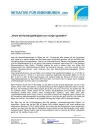 Haushaltsrede der IFI - Initiative - Stadt Ibbenbüren