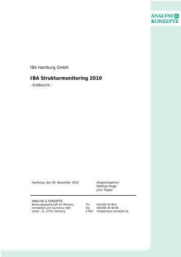 IBA Strukturmonitoring 2010 - IBA Hamburg