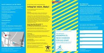Integrier mich, Baby! - IBA Hamburg