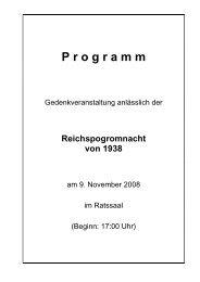 Programm Volkstrauertag