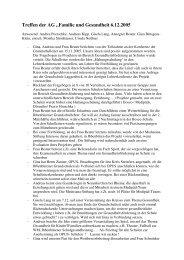 """Treffen der AG """"Familie und Gesundheit 6.12.2005"""