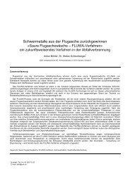 Schwermetalle aus der Flugasche ... - BSH Umweltservice AG
