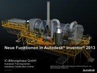 Autodesk Inventor 2013 - bei der IC Bildungshaus GmbH