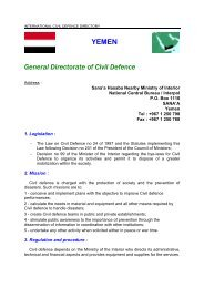 YEMEN General Directorate of Civil Defence - ICDO