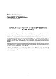 international directory of means of assistance in civil defence - ICDO