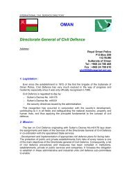 OMAN Directorate General of Civil Defence - ICDO