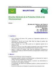 MAURITANIE Direction Générale de la Protection  Civile et ... - ICDO