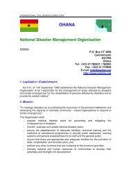 GHANA National Disaster Management Organisation - ICDO