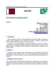 QATAR Civil Defense Department - ICDO