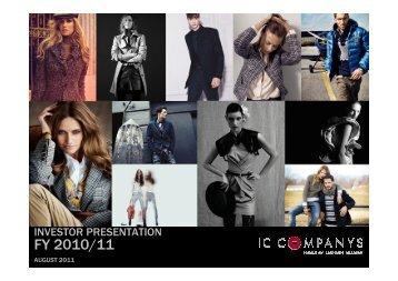 Presentation - IC Companys A/S