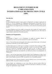 REGLEMENT INTERIEUR DE L'ORGANISATION - ICDO